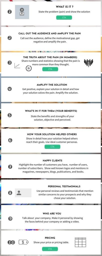 high converting landing page template
